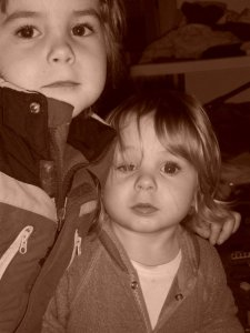 Danny and his big brother Michael, some time back
