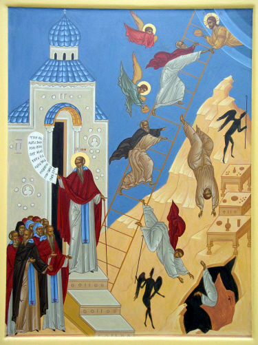 Icon of the Ladder of Divine Ascent, by Nikolai Tsai