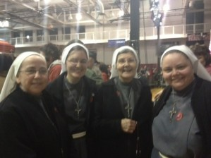 Franciscan nuns at Santorum's primary night rally in Steubenville