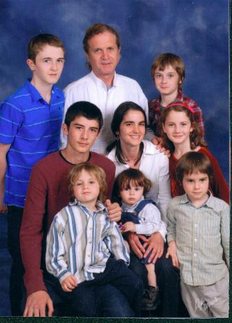 My family; Danny is the blonde boy in the striped shirt
