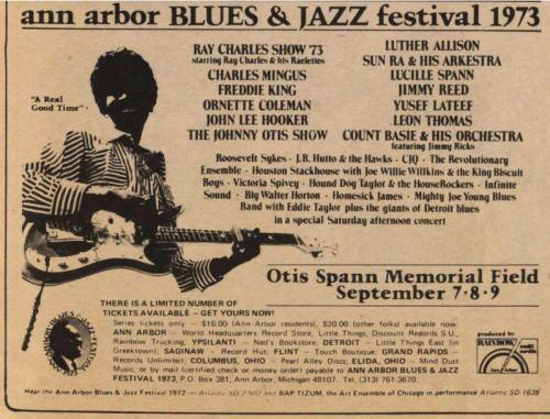 Concert - Ad, Ann Arbor, Ray Charles, Ann Arbor Sun, July 12 - 19730907